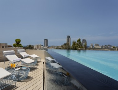 rooftop pool at poli house tel aviv